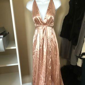 Summer rose gold maxi dress